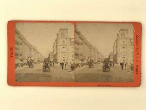Rue Da Rivoli Animata Parigi Foto Stereo Stereoview Vintage Albumina