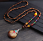 Lange-Halskette-Nepal-Boho-Anhaenger-Retro-Vintage-Holz-Handgefertigt-Perlen Indexbild 22