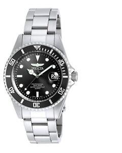 Invicta 8932OB Men's Pro Diver Black Dial SS Bracelet Dive Watch 886678252503