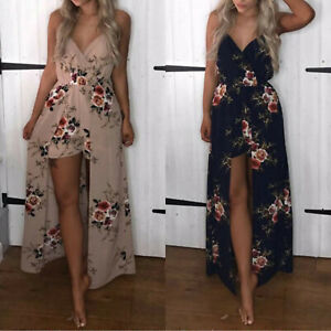 Womens-Maxi-Dress-with-Shorts-Romper-Floral-Long-Dresses-Summer-Party-Cocktail