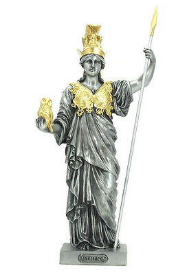 Athena - Greek Goddess of Wisdom and War Statue Sculpture Figure - GIFT BOXED