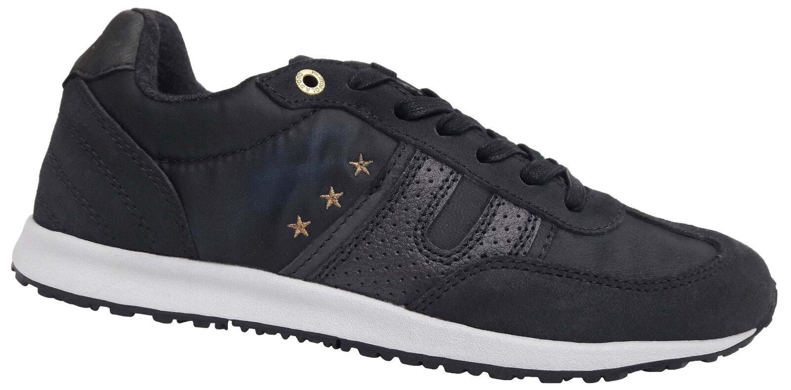 Pantofola d'Oro Acadia Low Damen Leder Sneaker Used Look Freizeit Schuhe NEU