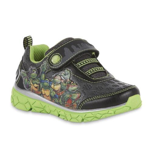 * NWT * Boy/'s Ninja Turtles Sneaker Sz: Youth 2 Green//black Light-up 3