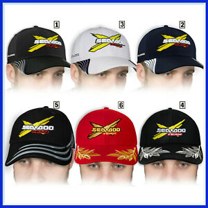 SEA-DOO-3D-Brode-Logo-Baseball-Cap-Homme-Chapeau-Accessoires-Motomarine-Vetement
