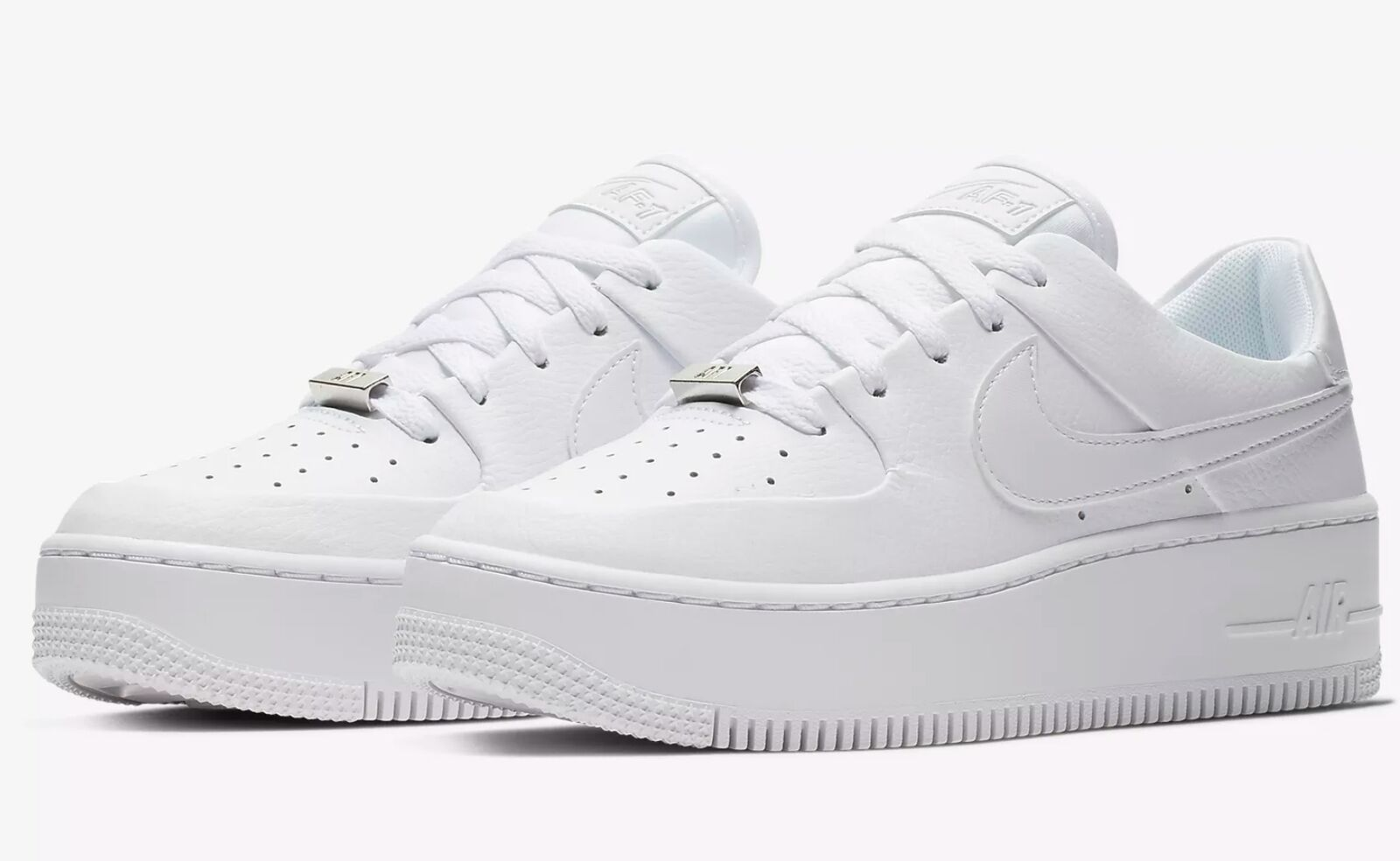 Nike Air Force 1 Sage Low Ar5339-100 Tripple White Womens Size 7