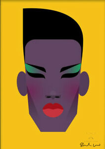 Grace Jones by Stanley Chow - Signed and stamped archival Giclee print
