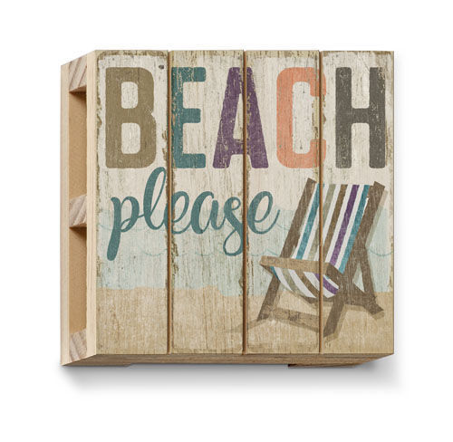 Bar Tools Accessories Coastal Beach Themed Rustic Wood Slatted Pallet Coasters Set Of 4 Home Garden Ohioeyecareconsultants Com