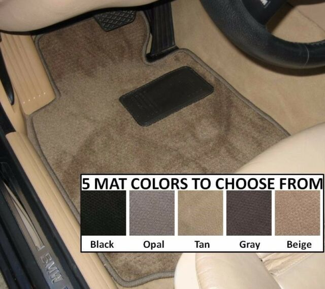 VAUXHALL VIVARO 2001 TAILORED CAR FLOOR MATS BLACK CARPET WITH GREY TRIM