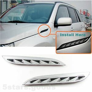 Chrome Side Air Intake Vent Grille Covers Trim For 2006-2013 Suzuki