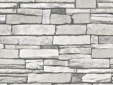 Gray Stone Brick Look Contact Paper Self Adhesive Wallpaper Peel and Stick