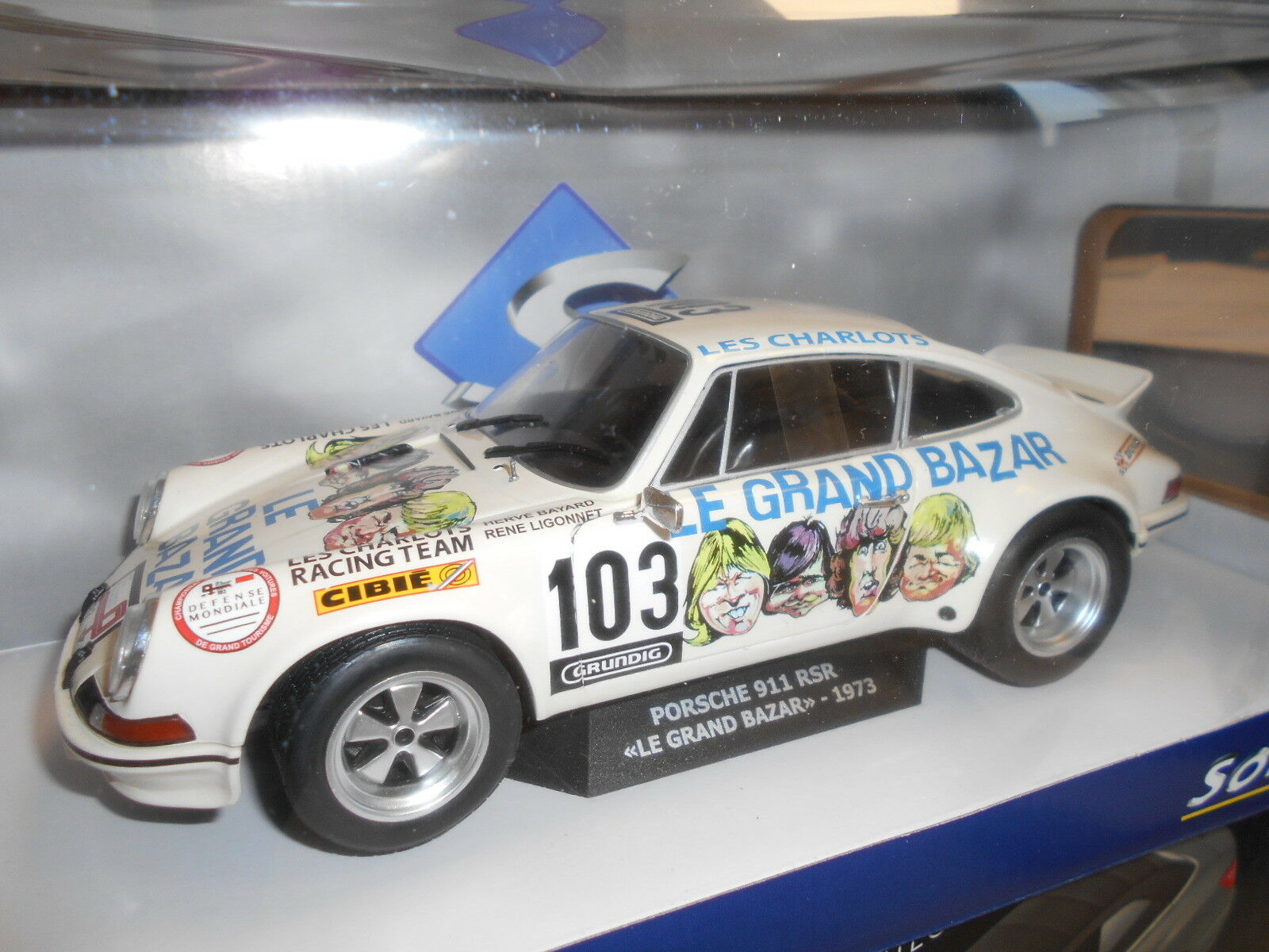 SOL1801106 by SOLIDO' PORSCHE 911 RSR  103 LE GRAND BAZAR 1 18