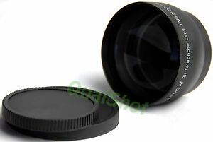 Telephoto-2X-Tele-Camera-Lens-52mm-FOR-Nikon-Pentax-18-55mm-NEW
