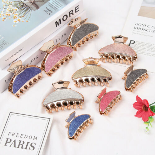 Colorful Acrylic Crab Hair Claw Glitter Hair Clip Styling Tools Hairpin Clamp