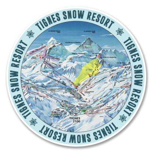 2 x Tignes Ski Snowboard Vinyl Sticker Laptop Travel Luggage Car #6146