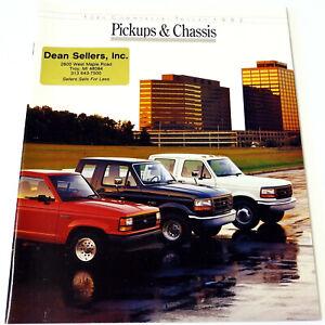 FORD-1992-PICKUPS-amp-CHASSIS-Vintage-SALES-BROCHURE-CATALOG-Original-20-pages