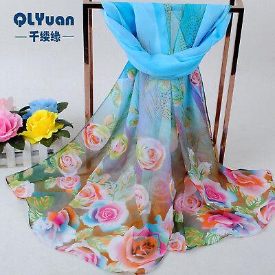 160 fleurs 50 cm Floral Fashion femmes Foulards en mousseline de soie écharpe femme châle X246