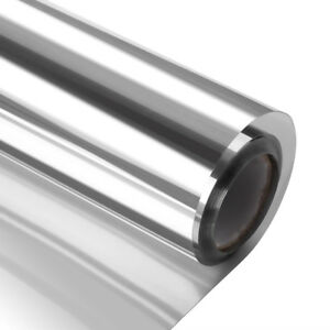 20-VLT-Silver-amp-silver-Window-Film-One-Way-Mirror-Glass-Sticker-Reflective-Film