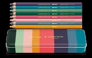 Caran D/'ache Supracolor Paul Smith 8 Soft Aquarelle Pencil Set with Box