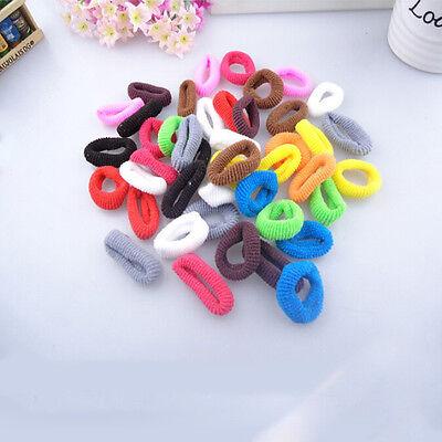 80Pcs Kids Girl PonyTail Elastic Hair Bands Tie Rope Ring Rubber Ponytail Holder