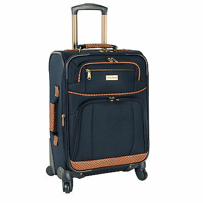 "TOMMY BAHAMA MOJITO NAVY BLUE 20"" SPINNER SUITCASE LUGGAGE $320 VALUE"