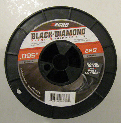 885/' MED SIZE ROLL STOCK # 330095073 ECHO BLACK DIAMOND TRIMMER LINE .095 DIA