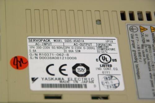 YASKAWA SERVOPACK SGDS-A5A01A TESTED WORKING FREE SHIP