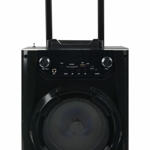 Portable Bluetooth Party DJ Karaoke PA Speaker Rechargeable USB FM AUX