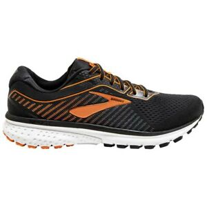 Laufschuh-BROOKS-Ghost-12-Herren-DNA-Loft-Daempfung-schwarz-orange-Running