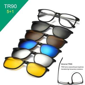 5 In 1 Magnetic Clip Swappable Sunglasses Polarized Lens Frame 5 Sunglasse Lot