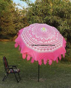 Details zu Indisch Ombre Aufdruck Rund Garten Sonnenschirm Außen Terrasse  Schirm