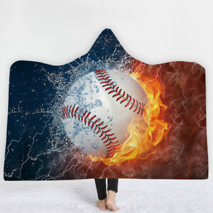 Baseball-Softball-Soccer-Basketball-Hooded-Blanket-Fleece-Wearable-Blankets-Wrap