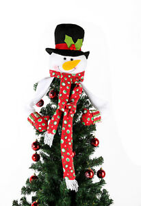 image is loading snowman christmas tree topper fairy fleece christmas eve