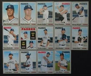 2019-Topps-Heritage-San-Diego-Padres-Master-Team-Set-of-14-Baseball-Cards