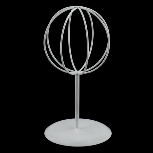 Vintage Metal Hat Cap Rack Wig Holder Display Stand for Retail Store White