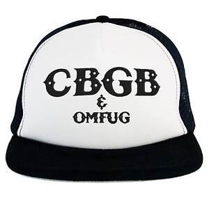 Image is loading Hat-CBGB-Omfug-Punk-Rock-Club-Trucker-Cap- c26b56b4dc4