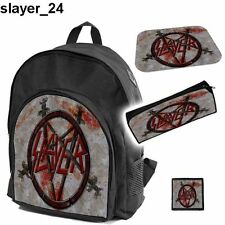 SLAYER METALLICA EXODUS Set school backpack pencil case+free mouse pad and patch