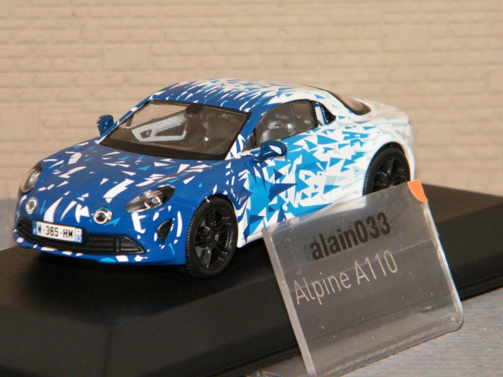 ALPINE A110 2017 blanc & bleu Test Version NOREV 1 43 Ref 517863