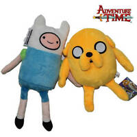 "2X Adventure Time Plush Toys Finn and Jake 12"" Character Stuffed Animal Doll"