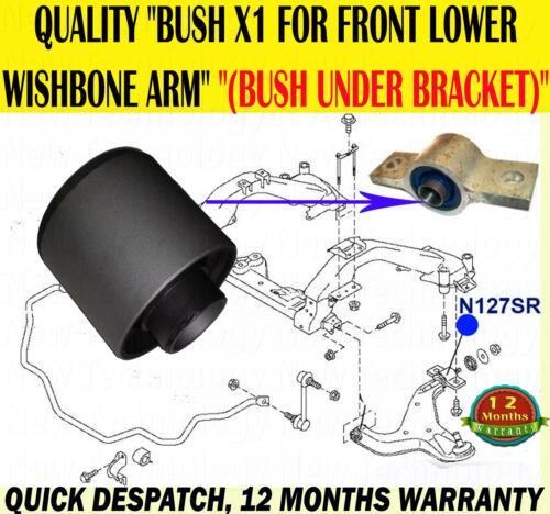 FRONT LOWER WISHBONE ARM REAR BUSH ONLYX1 FITS ELGRAND 2.5 3.5 2002-2010 E51