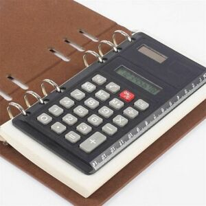 Solar-Loose-Leaf-Binder-8-Digits-with-Ruler-Calculator-Office-SpiralCalculator-b