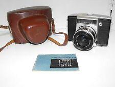 Vintage Pentina Film Camera With Carl Zeiss Jena Tessar 2,8/50 Lens & Case