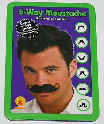 Six way moustache stage parade theatrical actor costume reenactment face hair TV