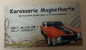 Grip-Magnetkarte-Karosserie-Karte-Magnet-Unfall-Spachtel-Lack-Pruefer-Check