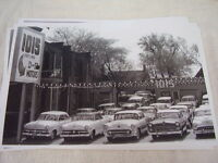 1950 's Used Car Lot Ford Oldsmobile Others 11 X 17 Photo / Picture