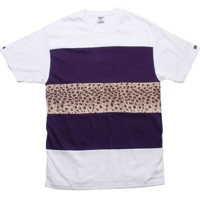 Crooks And Castles Wild Life Stripe White T Shirt 750704wht Clothing, Shoes & Accessories