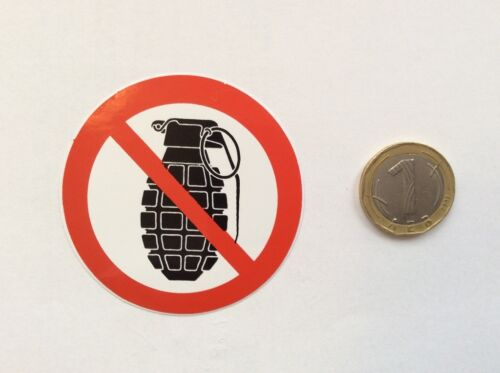 Verbot Schild Sticker Aufkleber Granaten Verboten Skateboard Decal