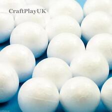 30x 'pequeño' esferas de poliestireno/bolas (diámetro 4cm) (craftplayuk)