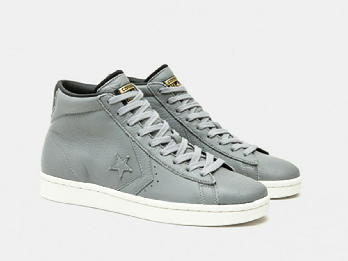 CONVERSE MENS WOMENS pl 76 john harvard LEATHER mid trainers shoes uk 7-8-9 grey