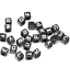 Free Ship 500Pcs Mixed Alphabet Letter Acrylic Flat Cube Spacer Beads 6mm