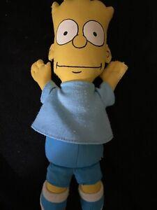 "The Simpsons BART SIMPSON Plush 10"" Doll- Dan Dee 1990 VINTAGE"